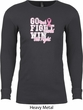 Breast Cancer Awareness Go Fight Win Long Sleeve Thermal Shirt