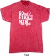Breast Cancer Awareness Go Fight Win Mineral Tie Dye Shirt