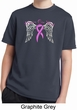 Breast Cancer Awareness Heaven Can Wait Kids Moisture Wicking Shirt