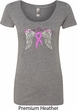 Breast Cancer Awareness Heaven Can Wait Ladies Scoop Neck Shirt