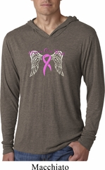 Breast Cancer Awareness Heaven Can Wait Lightweight Hoodie Shirt