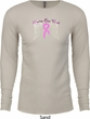 Breast Cancer Awareness Heaven Can Wait Long Sleeve Thermal Shirt