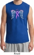 Breast Cancer Awareness Heaven Can Wait Mens Muscle Shirt