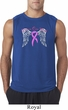 Breast Cancer Awareness Heaven Can Wait Mens Sleeveless Shirt