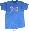Breast Cancer Awareness Heaven Can Wait Mineral Tie Dye Shirt