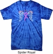 Breast Cancer Awareness Heaven Can Wait Spider Tie Dye Shirt