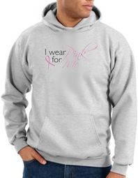 Breast Cancer Awareness Hoodie - I Wear Pink For Me Ash Hoody
