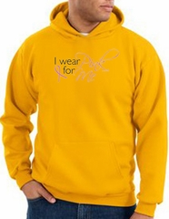Breast Cancer Awareness Hoodie - I Wear Pink For Me Gold Hoody