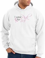 Breast Cancer Awareness Hoodie - I Wear Pink For Me White Hoody