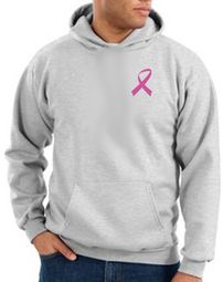 Breast Cancer Awareness Hoodie Pink Ribbon Pocket Print