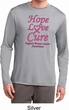 Breast Cancer Awareness Hope Love Cure Dry Wicking Long Sleeve