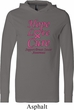 Breast Cancer Awareness Hope Love Cure Lightweight Hoodie