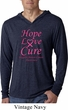 Breast Cancer Awareness Hope Love Cure Lightweight Hoodie Tee