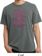 Breast Cancer Awareness Hope Love Cure Pigment Dyed Shirt