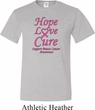 Breast Cancer Awareness Hope Love Cure Tall Shirt