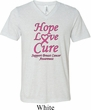 Breast Cancer Awareness Hope Love Cure Tri Blend V-neck