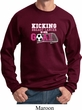 Breast Cancer Awareness Kicking Breast Cancer is Our Goal Sweatshirt