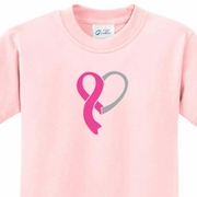 Breast Cancer Awareness Kids Ribbon Heart Shirts