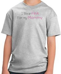 Breast Cancer Awareness Kids T-shirts - I Wear Pink For My Mommy