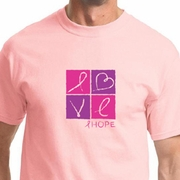 Breast Cancer Awareness Love Hope Mens Shirts