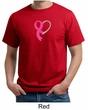 Breast Cancer Awareness Mens Shirt Ribbon Heart Organic Tee T-Shirt