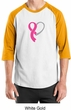 Breast Cancer Awareness Mens Shirt Ribbon Heart Raglan Tee T-Shirt