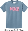Breast Cancer Awareness My Team Wears Pink For a Cure Kids Shirt