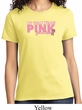 Breast Cancer Awareness My Team Wears Pink For a Cure Ladies Shirt