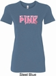 Breast Cancer Awareness My Team Wears Pink Ladies Longer Length Shirt