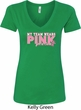 Breast Cancer Awareness My Team Wears Pink Ladies V-Neck Shirt