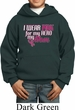 Breast Cancer Awareness Pink for My Hero Kids Hoody