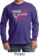 Breast Cancer Awareness Pink for My Hero Kids Long Sleeve Shirt