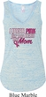 Breast Cancer Awareness Pink for My Hero Ladies Flowy V-neck Tanktop