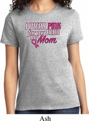Breast Cancer Awareness Pink for My Hero Ladies Shirt