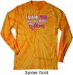 Breast Cancer Awareness Pink for My Hero Long Sleeve Tie Dye Shirt