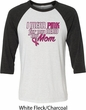 Breast Cancer Awareness Pink for My Hero Mens Raglan Shirt