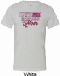 Breast Cancer Awareness Pink for My Hero Mens Tri Blend Crewneck Shirt
