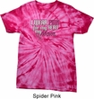 Breast Cancer Awareness Pink for My Hero Spider Tie Dye Shirt