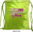 Breast Cancer Awareness Pink for My Hero Tie Dye Bag