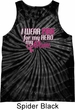 Breast Cancer Awareness Pink for My Hero Tie Dye Tank Top