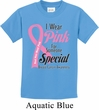 Breast Cancer Awareness Pink For Someone Special Kids Shirt