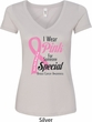 Breast Cancer Awareness Pink For Someone Special Ladies V-Neck Shirt