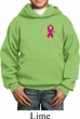 Breast Cancer Awareness Pink Ribbon Pin Pocket Print Kids Hoody