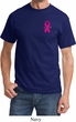 Breast Cancer Awareness Pink Ribbon Pin Pocket Print Shirt