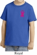 Breast Cancer Awareness Pink Ribbon Pin Pocket Print Toddler Shirt