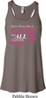 Breast Cancer Awareness Pray for a Cure Ladies Flowy Racerback Tanktop