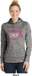 Breast Cancer Awareness Pray for a Cure Ladies Moisture Wicking Hoodie