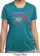 Breast Cancer Awareness Pray for a Cure Ladies Moisture Wicking Shirt