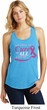 Breast Cancer Awareness Pray for a Cure Ladies Racerback Tank Top