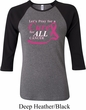 Breast Cancer Awareness Pray for a Cure Ladies Raglan Shirt